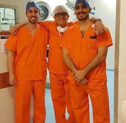 Operativo trasplante con donante con riñón en herradura